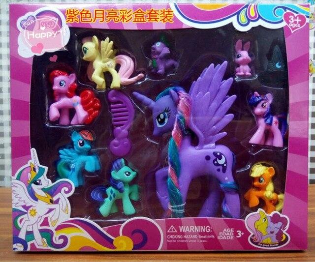Моя маленькая пони Принцесса Селестия принцесса Луна мультфильм Животные Лошадь Единорог Фигурки игрушек для детей Рождественский подарок