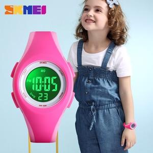 Image 5 - Skmei Kinderen Lcd Elektronische Digitale Horloge Sport Horloges Stop Horloge Lichtgevende 5Bar Waterdichte Kinderen Horloges Voor Jongens Meisjes