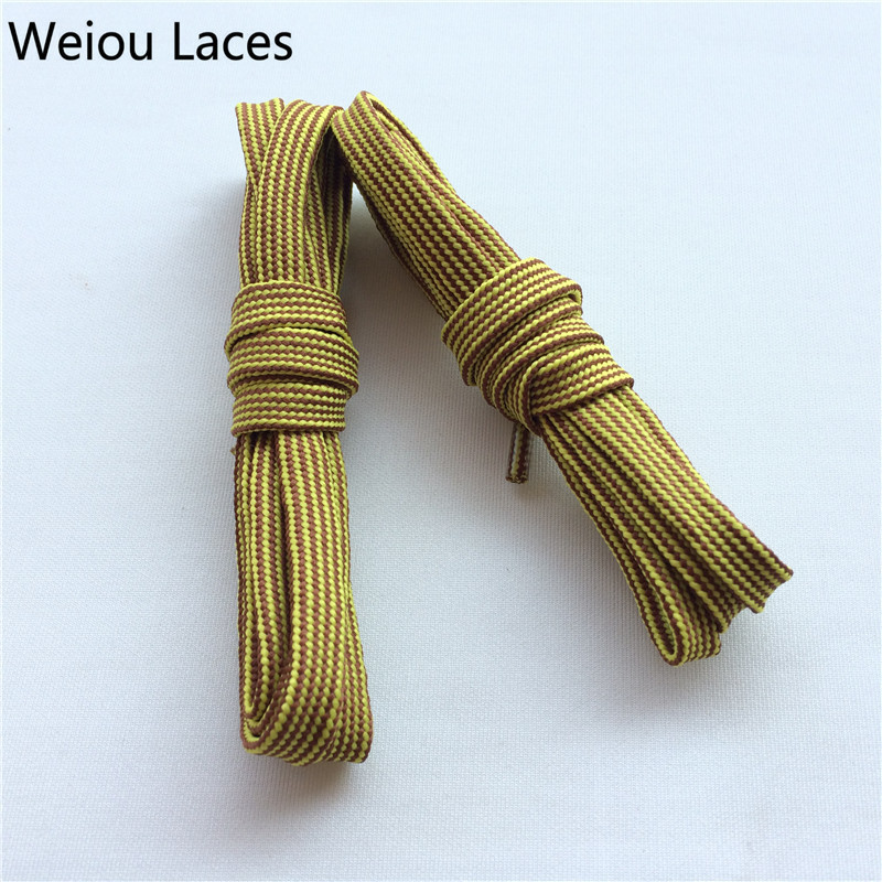aaee42e5f4 Weiou Heavy Duty Bright Colored Shoe Laces Flat Type Yellow Brown Hiking  BootLaces Cool Quality Shoelace For Sales Free Shipping-in Shoelaces from  Shoes on ...