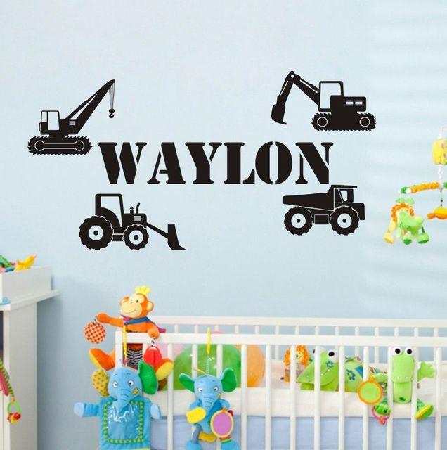 jongens kamer decoratie aanpassen decals auto vrachtwagen vinyl verwijderbare muursticker kids jongens slaapkamer interieur muurstickers cc