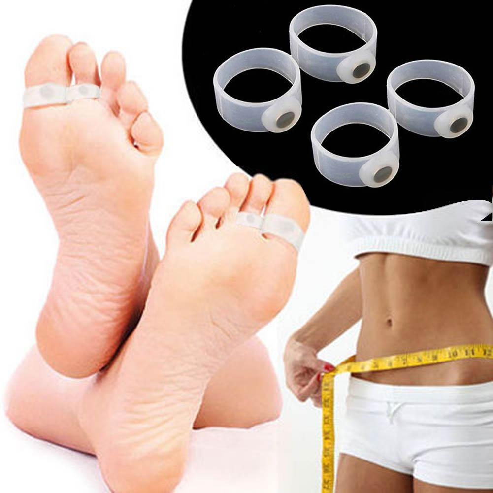2 pcs Slimming Silicone Foot Care Magnetic Toe Ring Fat Weight Loss Health Care Products Foot Beauty tool