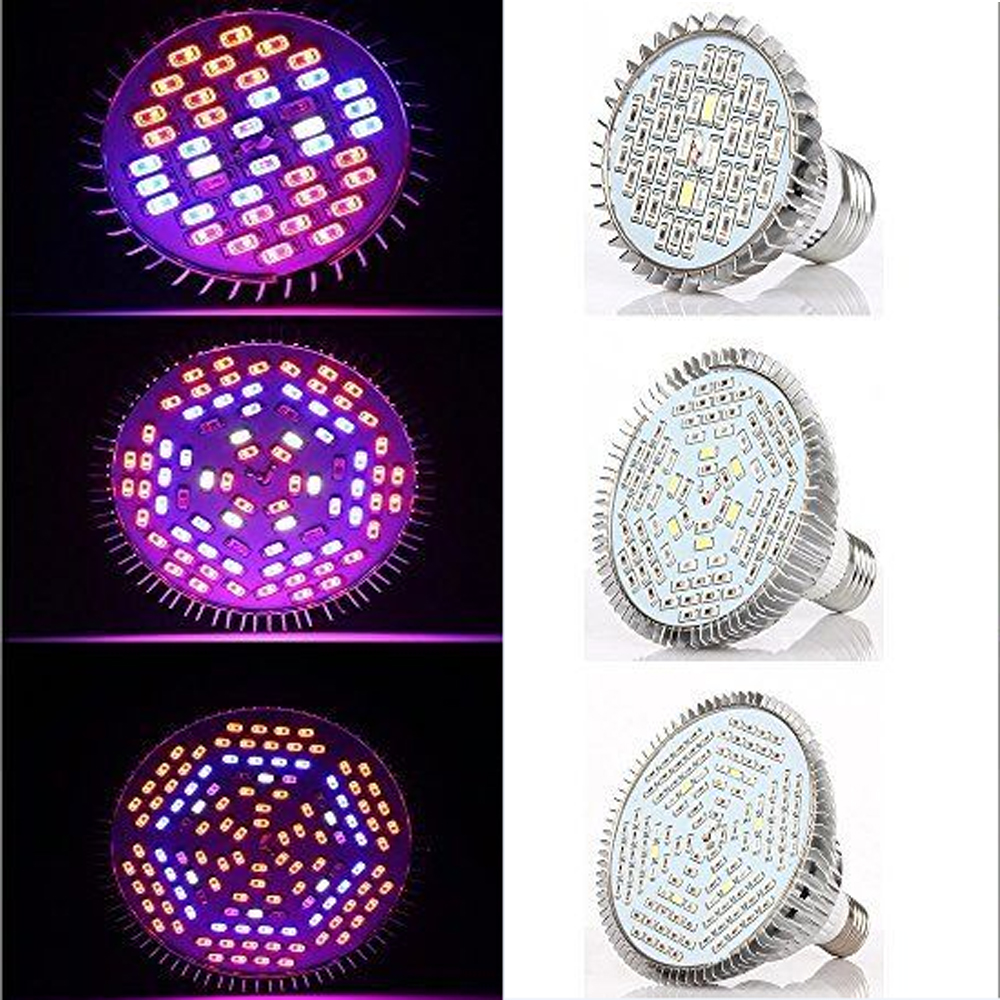 SMD Grow Led Full Spectrum 30W 50W 80W E27 Led grow light Spot Lamp UV IR Röd Blå Vit För Grow Box Blommande växter