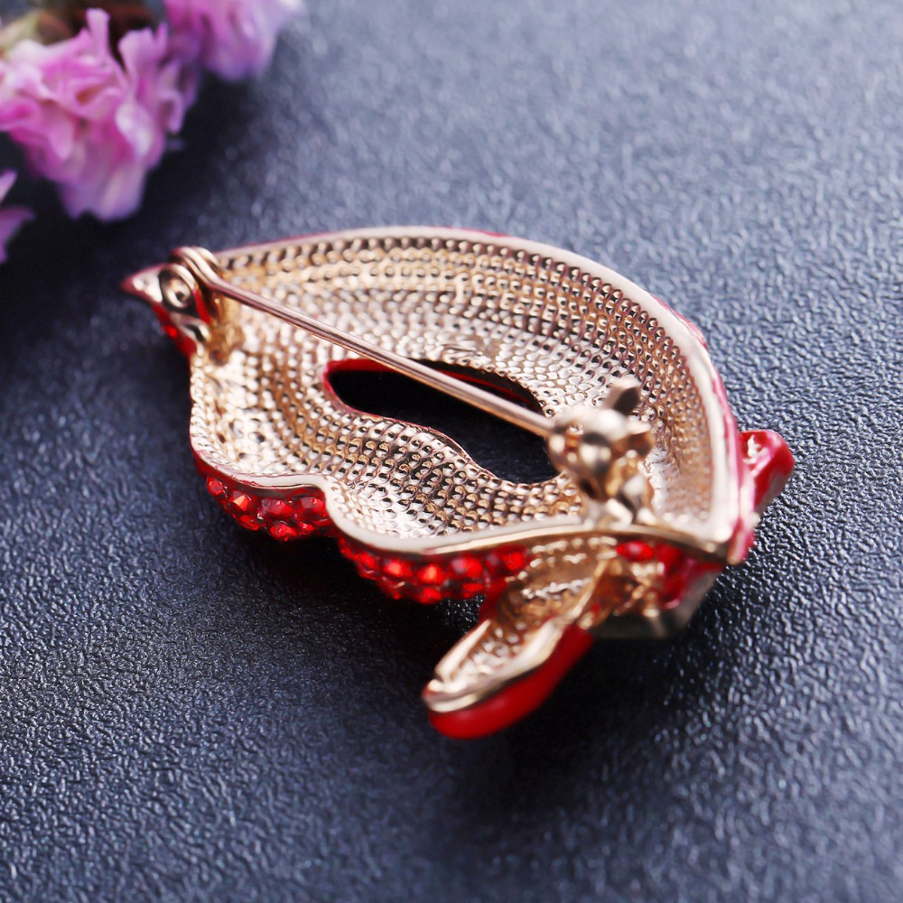 cc17e5b2b87 Miss Lady Vintage Crystal Red cute Lips Lipstick Brooches For Women Men  Lovely brooches for women brooch pins jewelry -in Brooches from Jewelry ...