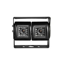 Dual cam car parking camera 3.6mm lens 32pcs led hd ir night vision waterproof rear view car camers with ccd sony