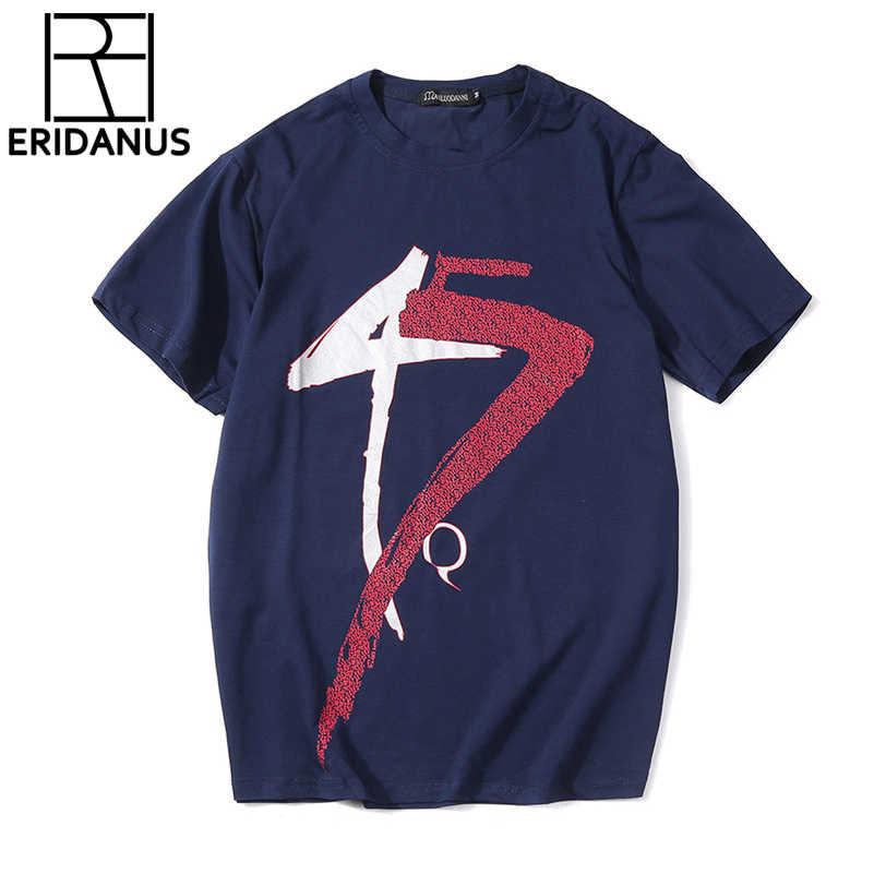 2018 wysokiej jakości koszulki z krótkim rękawem fajne nowe marki lato wiosna wysokiej elastyczne męskie O-Neck Tee chłopiec hip Hop Plus rozmiar X773