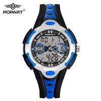 POPART Fashion Children Sports Watches For Student Kids Boys Girls Waterproof LED Digital Quartz Wristwatches Relogio