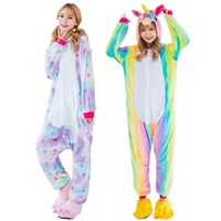 New Pink Unicorn Pajamas Sets Flannel Animal Pajamas Winter Nightie Stitch Unicornio Sleepwear For Women Men