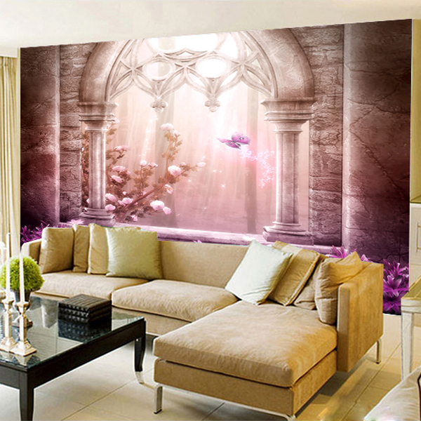 Free shipping TV backdrop wallpaper 3d large mural cozy bedroom ...