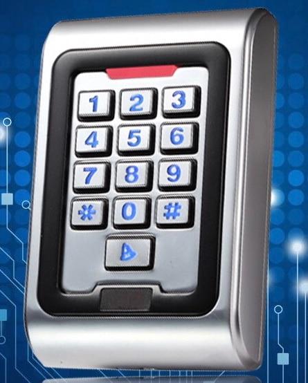 Standalone 125KHZ RFID Reader & Keypad Pin code Door gate lock opener Access Control Metal Keypad Case 2000 user