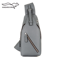 New Arrival High Quality Mens Chest Back Pack Casual Cow Leather Travel Bag Man Single Shoulder