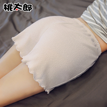 Wood ear design, loose and comfortable, spring summer thin funds, leggings, safety pants