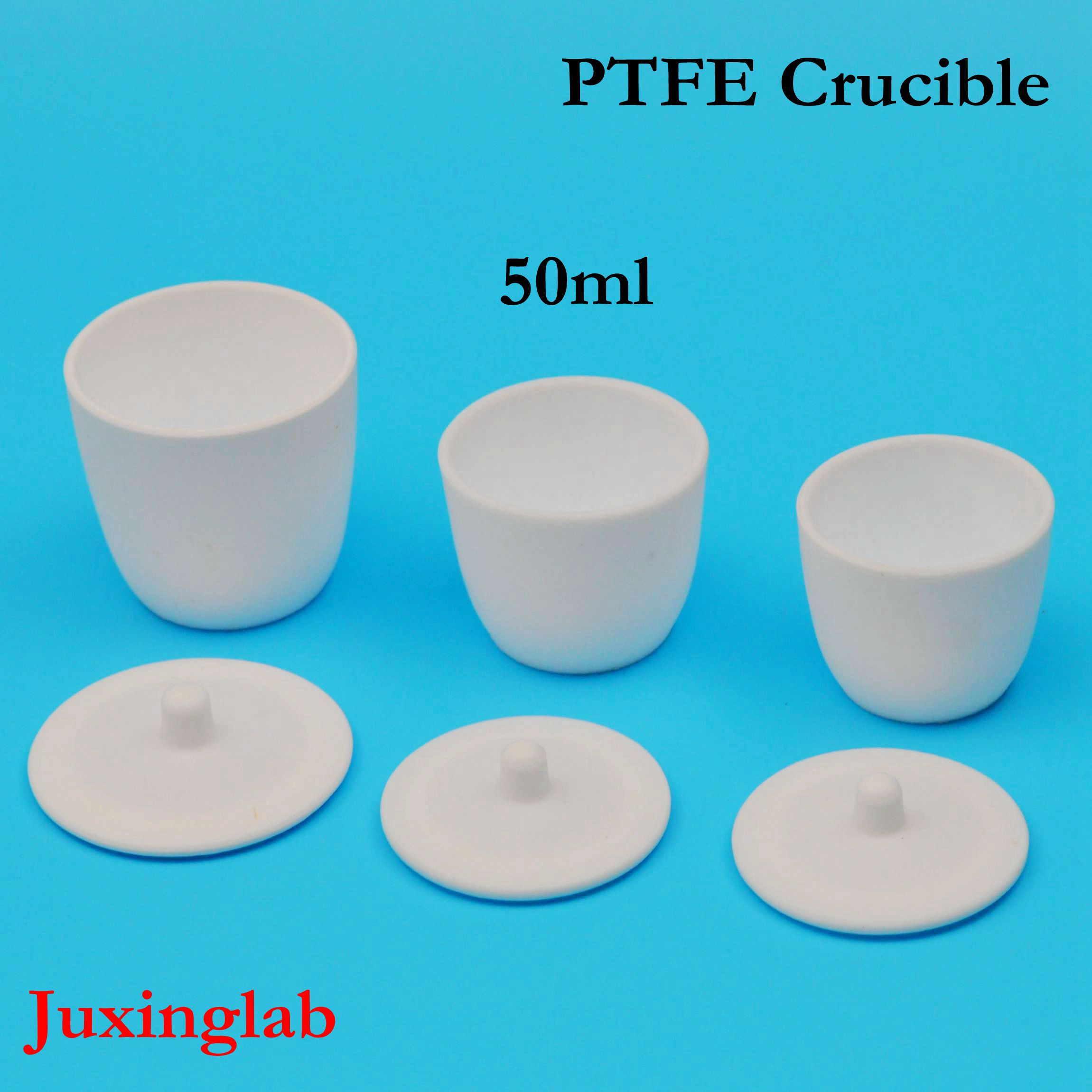 Laboratoire 50 ml PTFE téflon creuset disjoncteurs avec couvercle PTFE creuset volume 50 ml