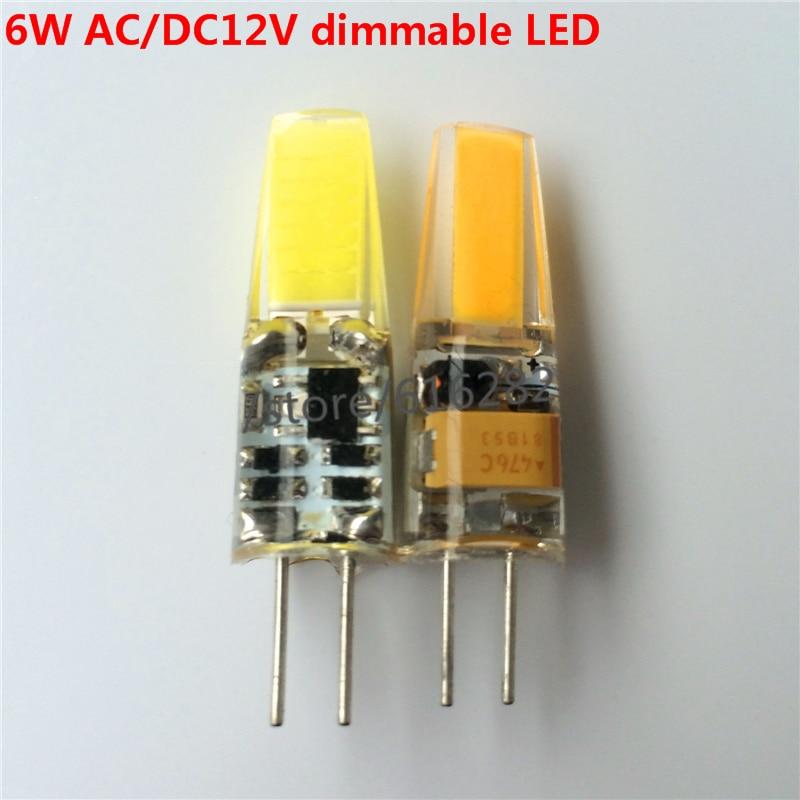 G4 AC12V DC12V AC220V 3 Вт 6 Вт LED УДАРА затемнения Bombillas лампы Ultra Bright Заменить для Crystal Light прожектор 10 шт./лот