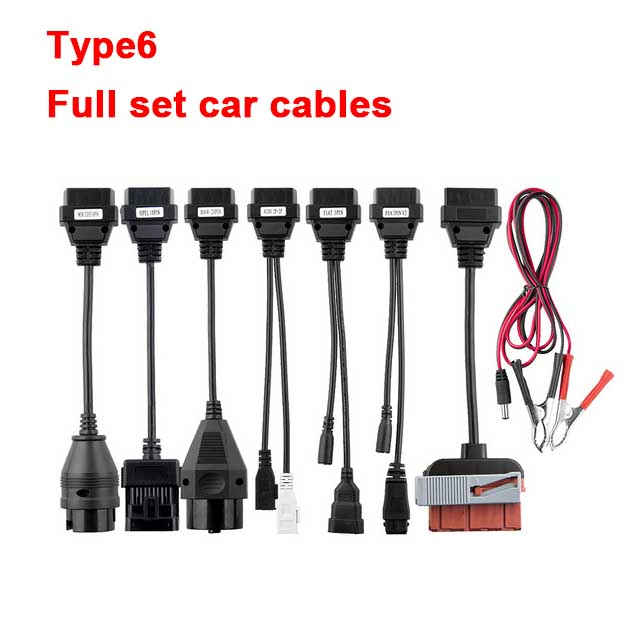 CDP TCS multidiag pro Bluetooth. R0 keygen V3.0 реле NEC obd2 сканер автомобилей грузовиков OBDII диагностический инструмент с автомобильными кабелями - Цвет: Car cables