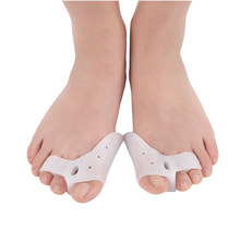 2 Pcs/lot Gel Toe Separator Toe Bunion Guard Splint for Hammer Toe with Forefoot Cushion Pad Toe Spacer Hallux Valgus Corrector sunvo professional silicone gel toes separator fot hallux valgus orthotic insoles toe correction cushion forefoot pad inserts
