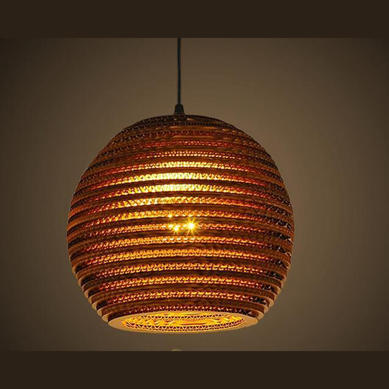 The story of a small town retro Bar Hotel honeycomb naked pupa Cafe personality leather cardboard pendant light ZH GY187 the restaurant in front of the hotel cafe bar small aisle entrance hall pendant light creative mediterranean