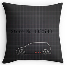 Cool Art Design GTI Tartan Pillow cases two sides for 12 14 16 18 20 24