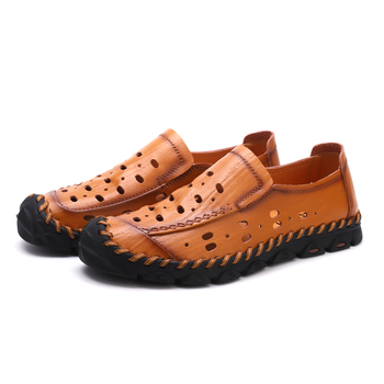 Comfortable Walking Flats   Men Shoes Male Loafers Flats Genuine Leather Comfortable Casual Boat Walking