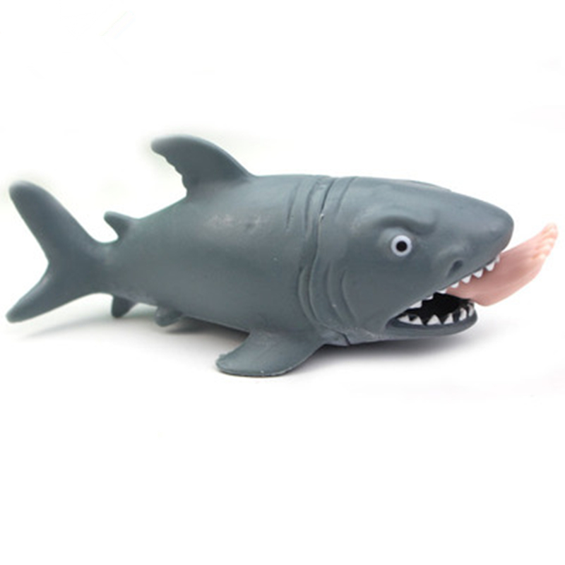 Soft Squishy Funny Toy Shark Squeeze Stress Ball Alternative Humorous Light Hearted Decompression Toys