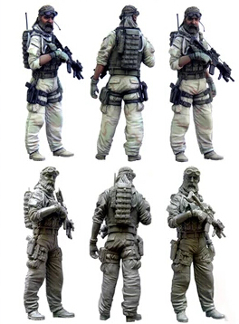 1/35 Scale Unpainted Resin Figure U.s.special Forces Soldier In Afghanistan Good Companions For Children As Well As Adults