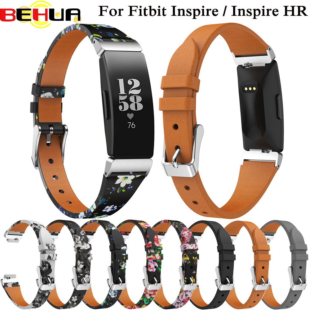 Double Wrap Leather Band For Fitbit Inspire HR Wristband Bracelet Strap For Fitbit Inspire Fitness Tracker Watchband Accessories