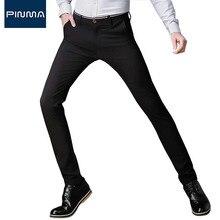 2017 new spring men dress pants slim fit design brand classical wedding long pant suit fashion male business stripe trousers 475