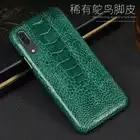 Caixa do telefone Para Huawei P20 P30 Lite Companheiro 10 20 lite Pro Y6 Y9 P Inteligente 2019 Avestruz Verdadeiro Pé caso Para Honra 7X 7A 8X9 10 lite