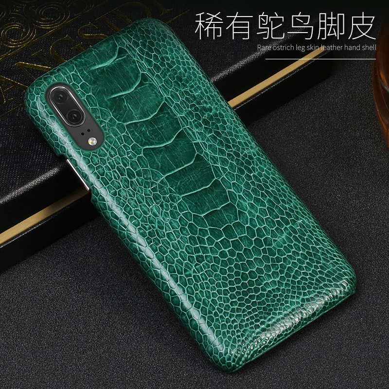Phone Case For Huawei P20 P30 Lite Mate 10 20 lite Pro Y6 Y9 P Smart 2019 Real Ostrich Foot Case For Honor 7X 7A 8X 9 10 lite