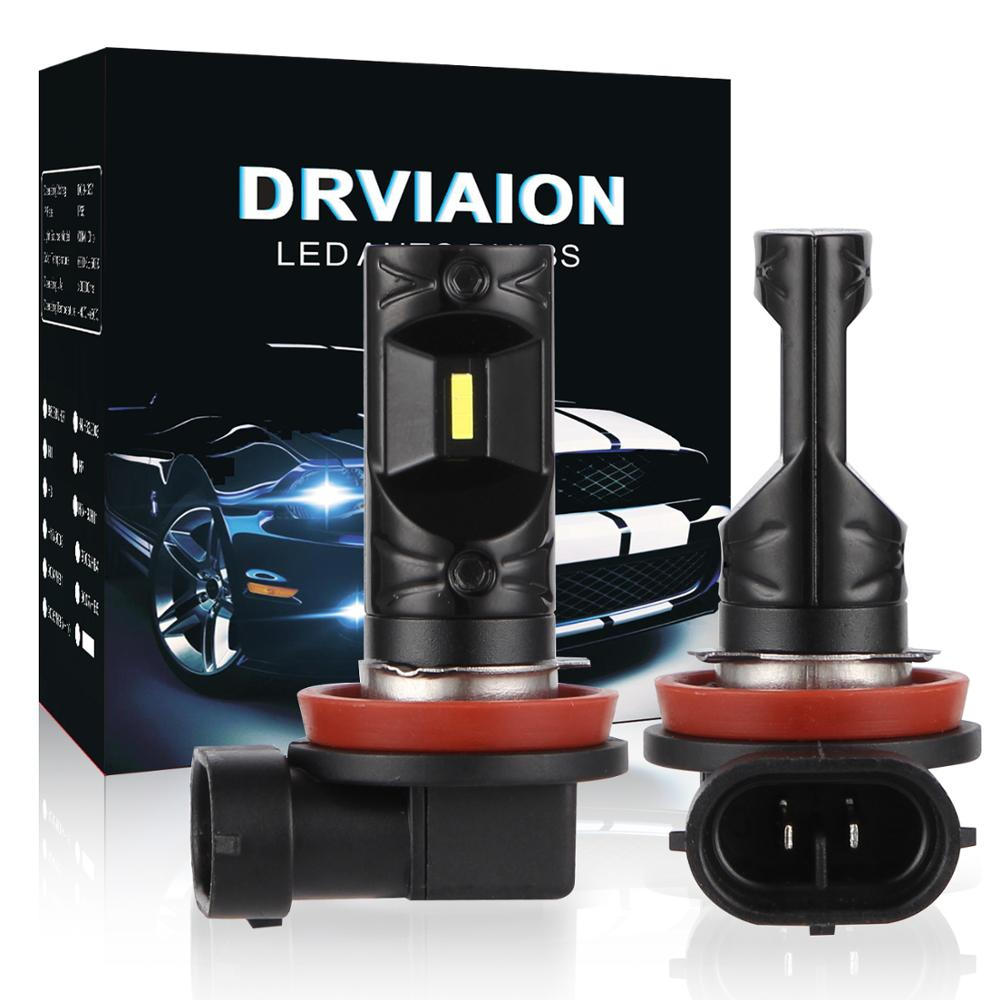 2pcs H8 H11 H9 LED Car Fog Light Led 12V 1860 CSP Chip Car Fog Lamp Bulbs 6500K  DRL For BMW For Kia Rio For Renault Clio