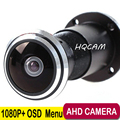 1080P UTC Control Mini AHD camera 1.78mm Fisheye Lens 2000TVL 2.0megapixel Door eye Camera CCTV security camera indoor camera