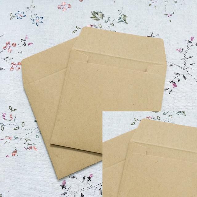 100pcs Lot 8 8cm Kraft Envelopes Square Small Envelope Card Bank Membership