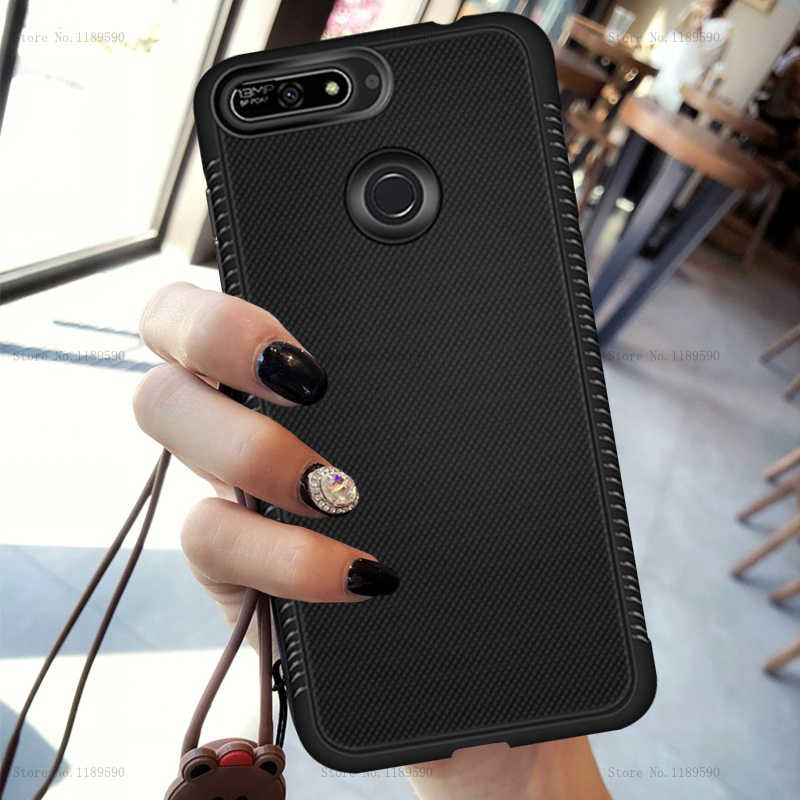 Cases For Huawei Honor 7C Pro Y6 Y7 Prime Y9 2018 Silicone Fitted TPU Anti Slip Back Cover For Huawei Honor 7C Pro Case Coque