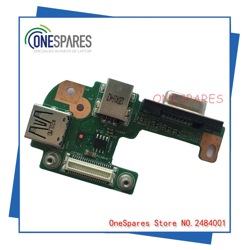 Free Shipping Original Laptop For Dell For Inspiron 15R N5110 DC Jack USB VGA Board 48.4IF05.021 R4M5T DQ15DN15