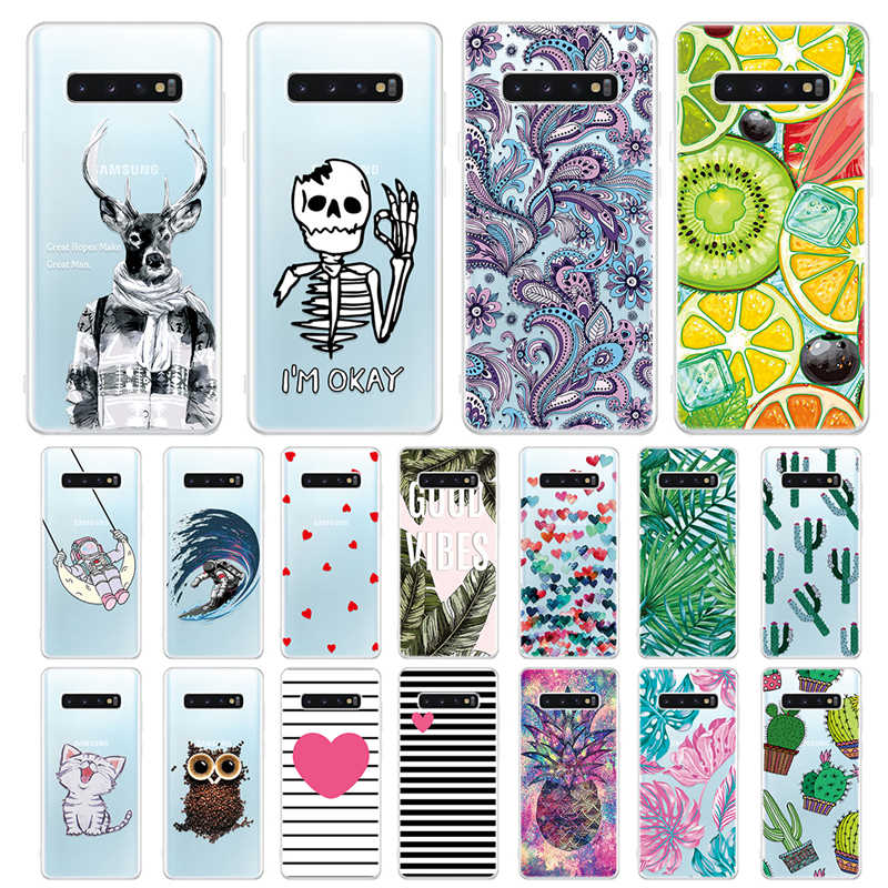 Soft Pattern Phone Case For Samsung Galaxy A70 A60 A50 A40 A30 A20 A10 Clear Silicone Cover For A20E A40S Phone Back Bag