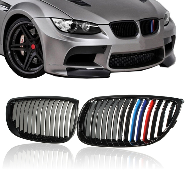 2008 Bmw 335xi Price: Pair Left+Right Side Gloss Black Car Front Grilles Grill M