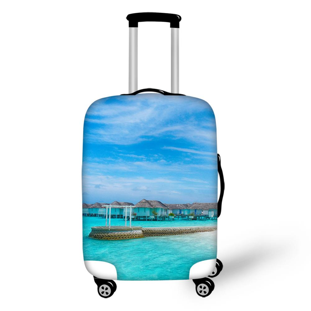 Thikin Beach Travel Luggage Cover For Girls Cartoon School Trunk Suitcase Protective Cover Travel Bag Protector Jacket