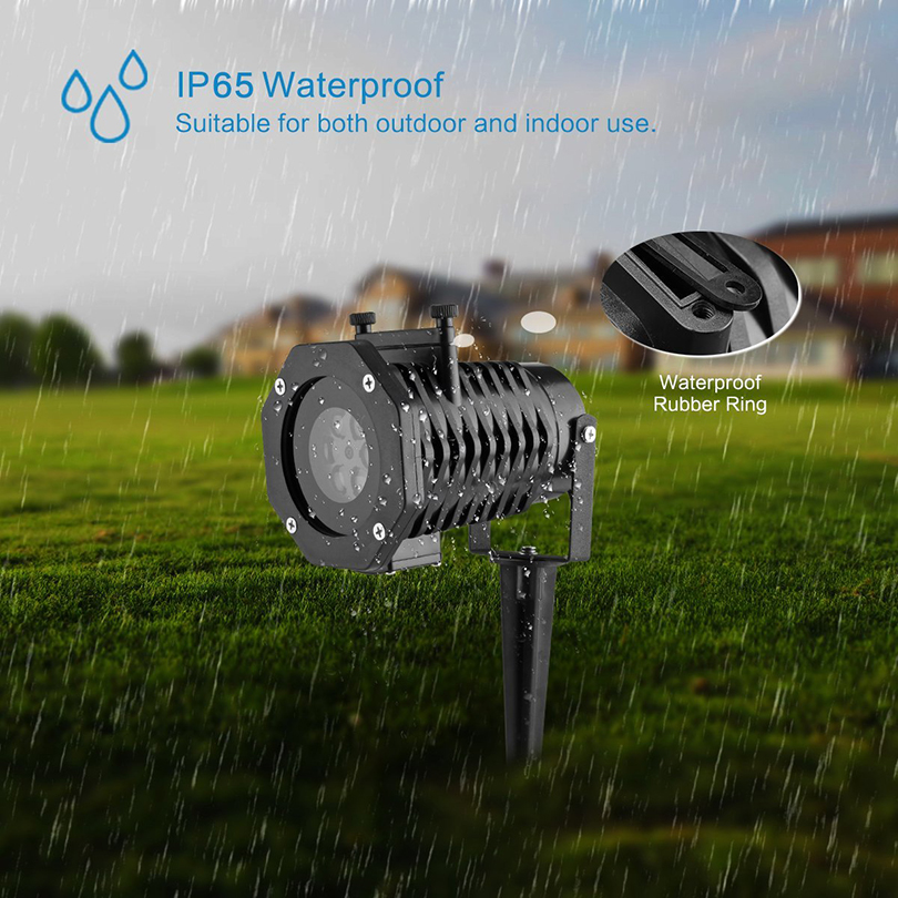 Holiday Decoration Waterproof Outdoor LED Stage Lights 12 Patterns Laser Projector lamp Christmas Decoration Garden Lamp