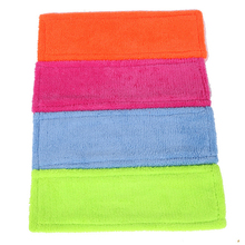 4 pc/lot Thicken Microfibre coral velvet wooden floors flat mops replacement pad refill mop head,mops floor cleaning