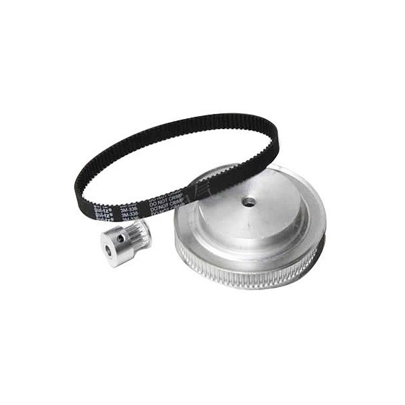 CNC Router Parts Synchronous Belt Wheel For Rotary Axis 3M Synchronous Belt Deceleration Suite (6:1)