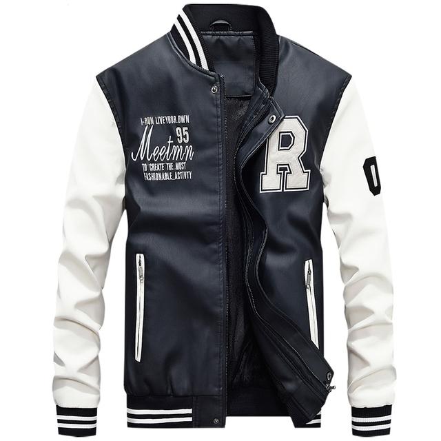 Pilot Bomber Flight Jacket Varsity Letterman Winter College Men mens faux fur coats Waterproof Baseball softshell heated jacket