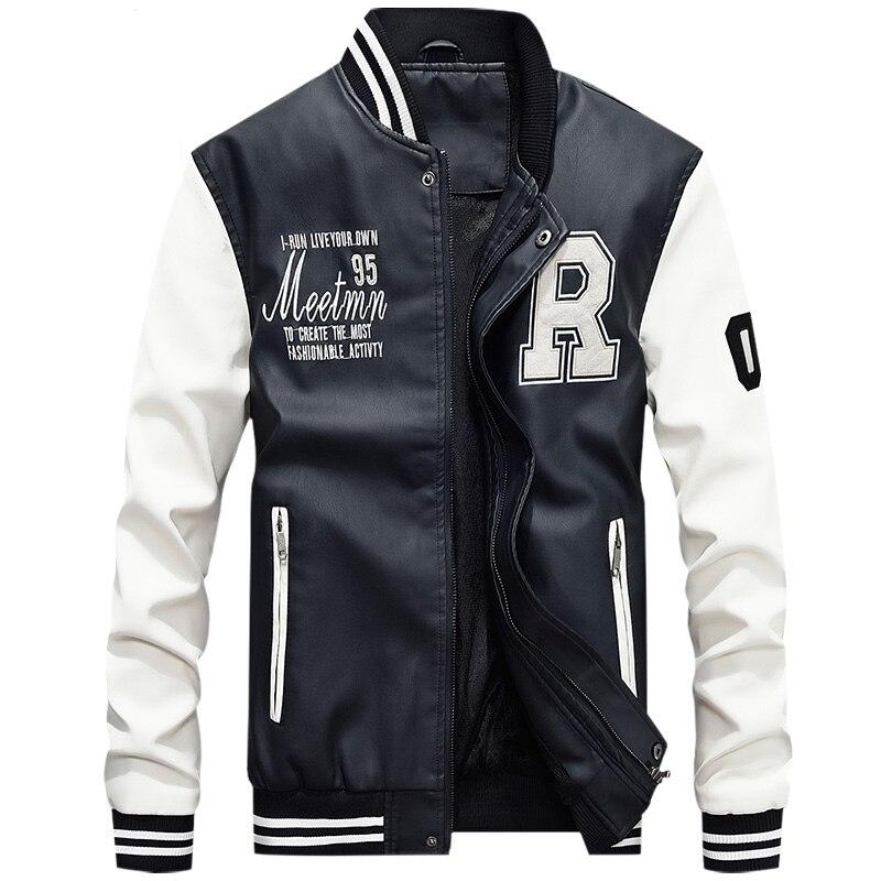 Piloto bombardero vuelo chaqueta Varsity Letterman universidad del invierno hombres mens faux pieles abrigos béisbol impermeable softshell chaqueta climatizada