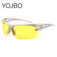 YOJBO Night Vision Glasses Men sunglasses for Driving Computer Gaming Yellow Eye