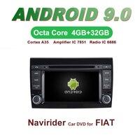 Navirider GPS Android 9.0 bluetooth stereo 4 Core 8 Core car DVD player for FIAT BRAVO head unit autoradio accessories