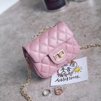 Корейская модная детская цепь сумка для маленьких девочек Crossbody монет сумка кошелек Малый Мини квадратные сумки