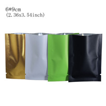 200pcs/lot Colorful 6*9cm Matte Surface Top Open Aluminum Foil Package Bag With Tear Notch Mylar Vacuum Food Storage