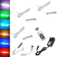 Aiboo LED Unter Schrank Lichter für Glas Rand Regal Zurück Seite Clip Clamp Streifen Beleuchtung 3 Lampen mit RF Remote control & Adapter