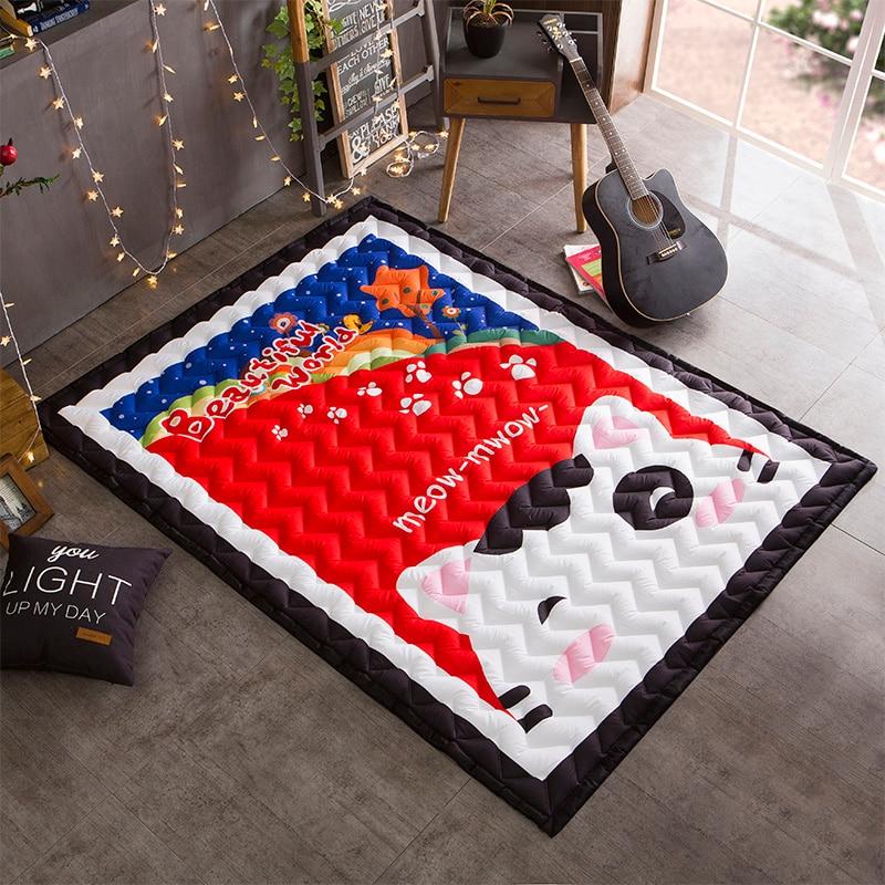 Tapis de bande dessinée tapis matelassé tapis épais Tatami tapis enfants chambre jouer ramper tapis Rectangle tapis et tapis pour la maison salon