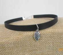 Leather Retro Zinc Alloy Metal Fashion vintage antique silver pendant jewelry Charm Bohemian Choker Necklace
