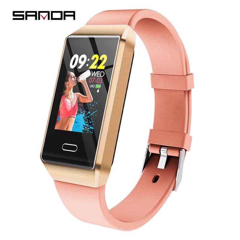 Montre intelligente de luxe en Silicone pour femmes moniteur de fréquence cardiaque Bluetooth surveillance de la pression artérielle montre intelligente pour IOS Android