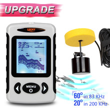 FF718X Protable Wired Fish Finder for Boating Fishing Alarm Echo 382ft/100M Fishfinder